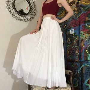 Pins & Needles Skirts - PINS AND NEEDLES White Maxi Soft Flowy Skirt